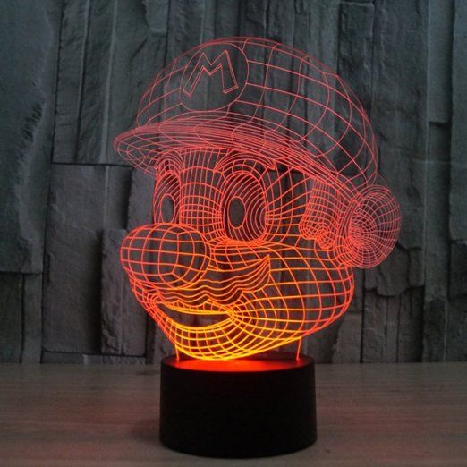 Robot Check 3d Illusion Lamp 3d Night Light Urban Wear