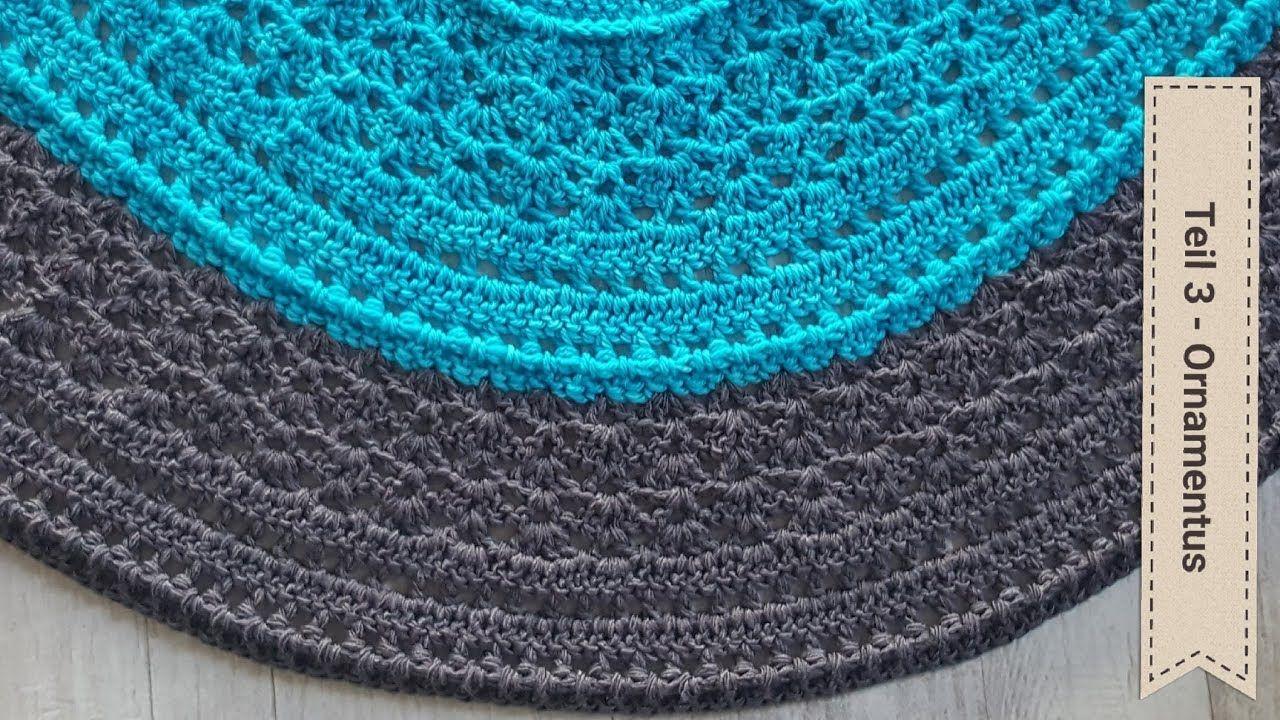 Halbrundes Tuch häkeln - Teil 3 : Tuch Ornamentus | Tücher & Schals ...