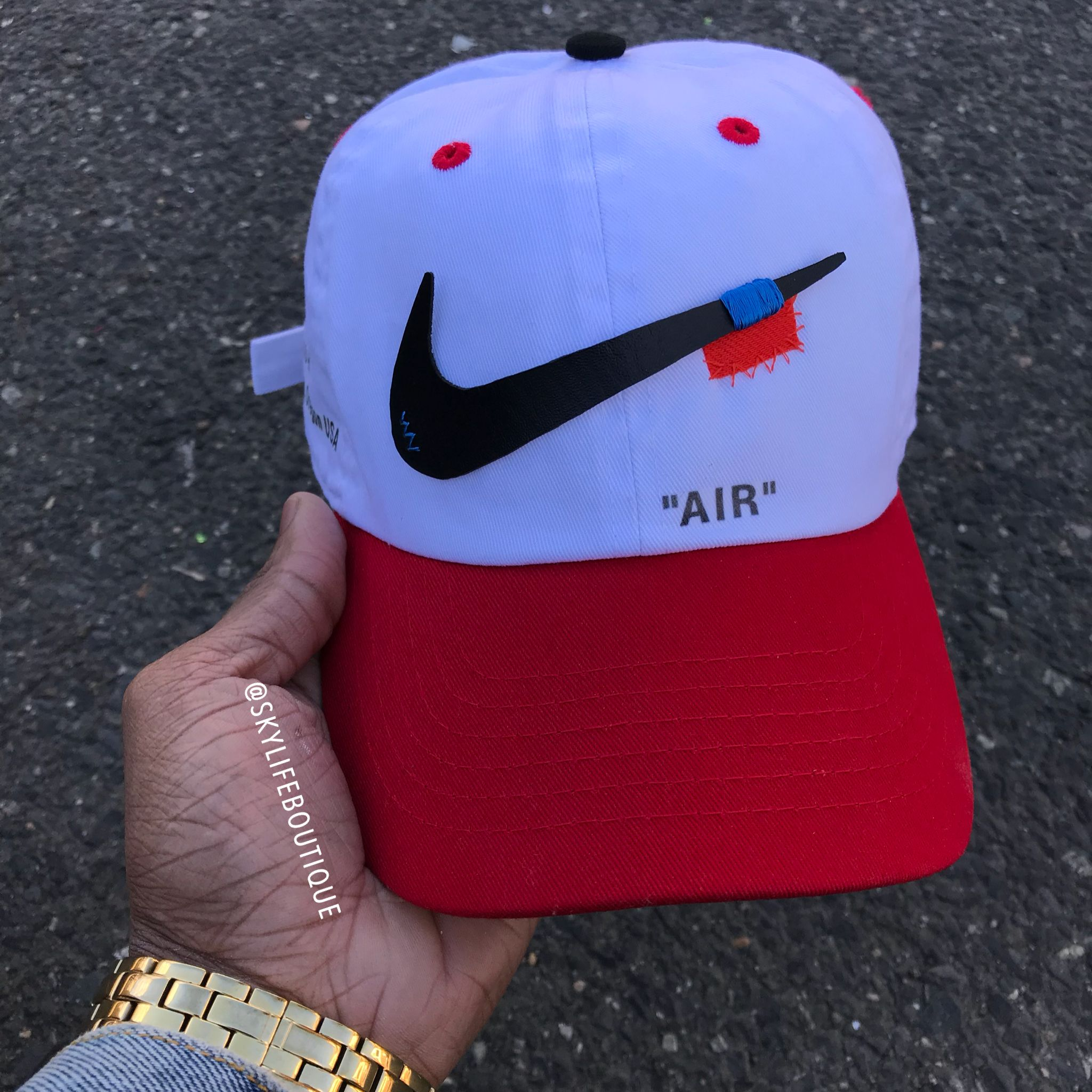 0bf030a691f25 Pin by SkyLife Boutique on Custom Off white hats