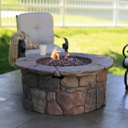 Red Ember 45in Clarksville Propane Campfire Fire Pit With Cover