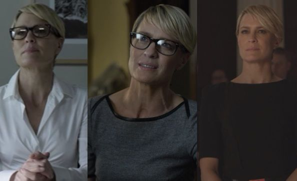 House Of Cards Season 2 Fashion What Claire Wore Ep 1 And 2 On Screen Style Claire Underwood Claire Underwood Style House Of Cards Seasons
