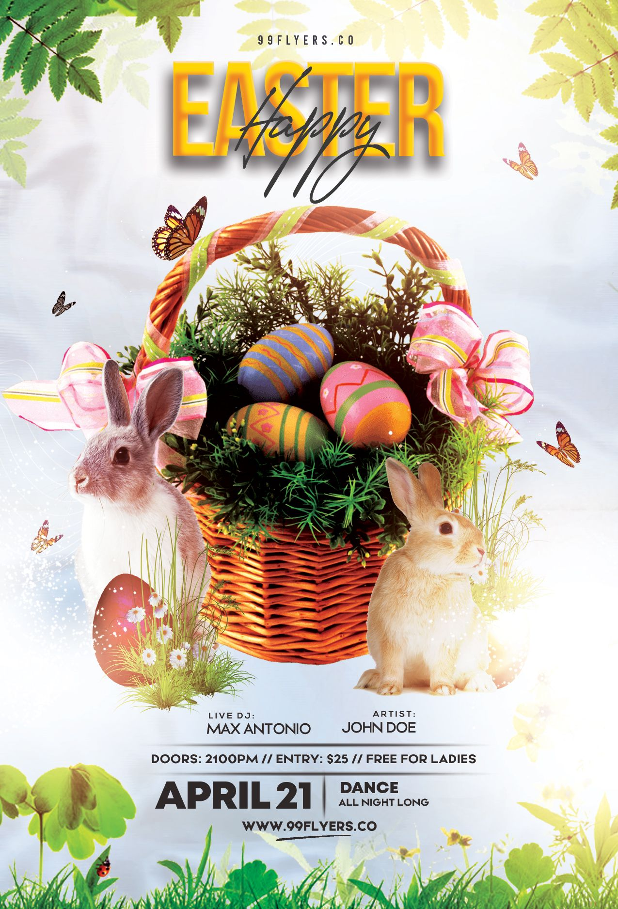 Happy Easter Flyer Psd Flyer Template Psd Flyer Templates Free