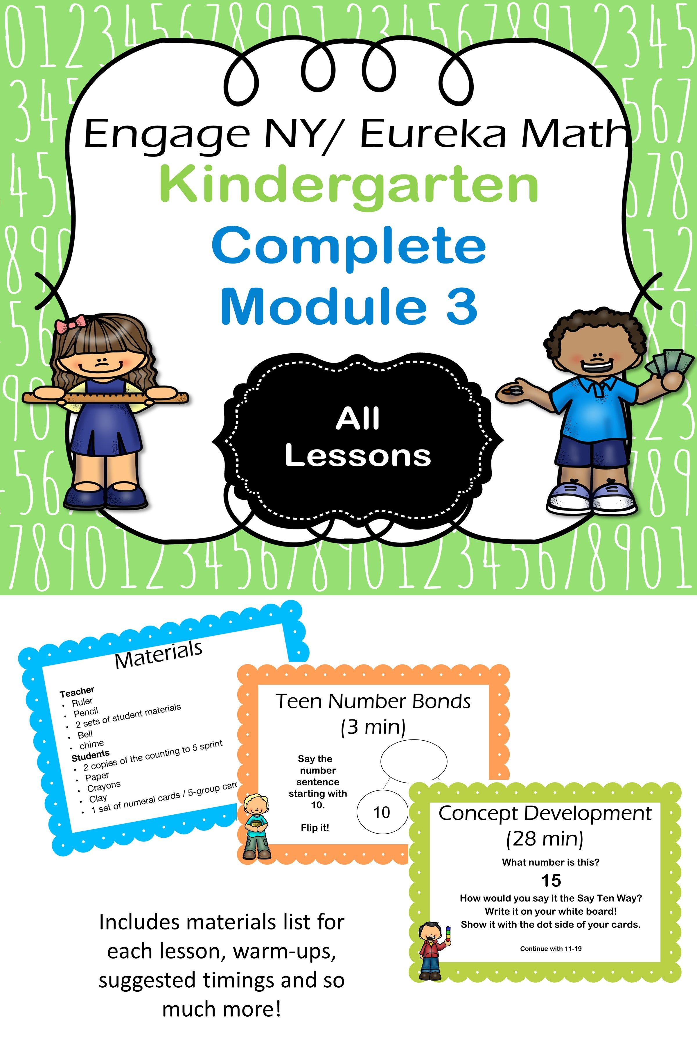 Eureka Math Kindergarten Module 3 Complete Set