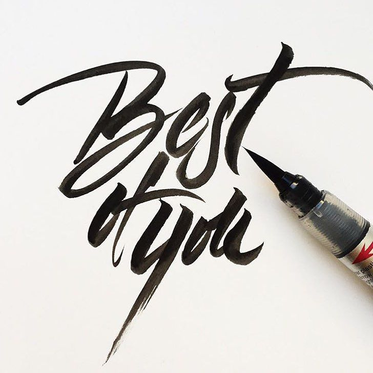 """""""Best of You"""" by @jana_papiernikova  #typespot for a feature! ____ #typography #type #typo #customtype #graphicdesign #script #letters #lettering #handlettering #customlettering #vector ____ #typegang #typecally #typetopia #typematters #thedailytype #strengthinletters #ligaturecollective #typespire #typographyinspired #artoftype #designspiration #todaystype #thedesigntip by typespot"""