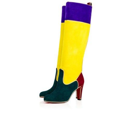 christian louboutin womens boot yellow