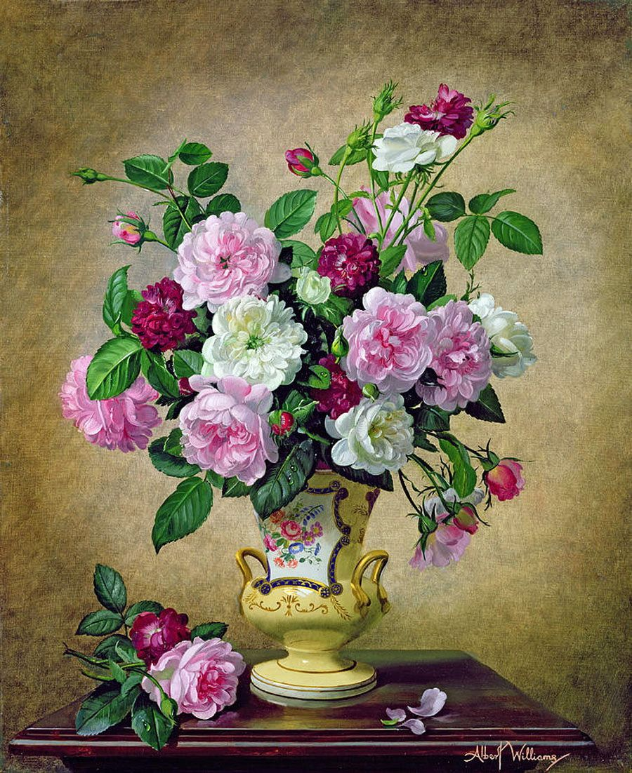 Floral Still Lifes The Artist Albert Williams Discussion On