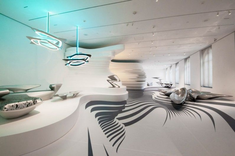 Zaha Hadid Form In Motion Exhibition At The Perelman Building USA ©