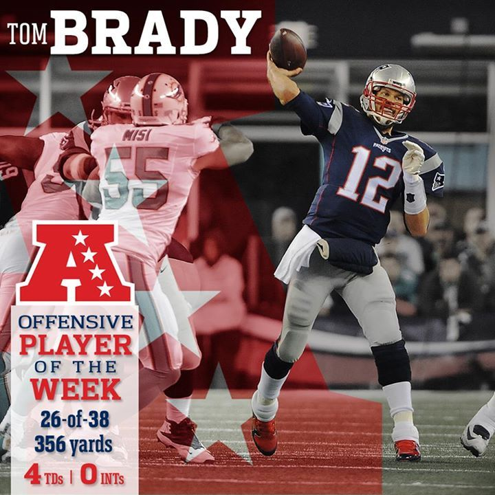 AFC Offensive Player of the Week #Brady #Patriots