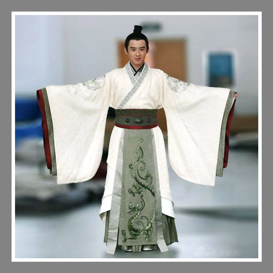 Mens Chinese Han dynasty clothing robe traditional costumes dresses show Hot s
