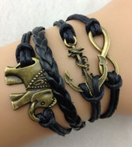 I just got this on tophatter for $1, check it out, download the app, use my code f6b92, we both get $5 free to spend on any auction! I get slot of jewelry CHEAP!  Choose 1 multi strands leather wish bracelet. Starting at $1 on Tophatter.com!