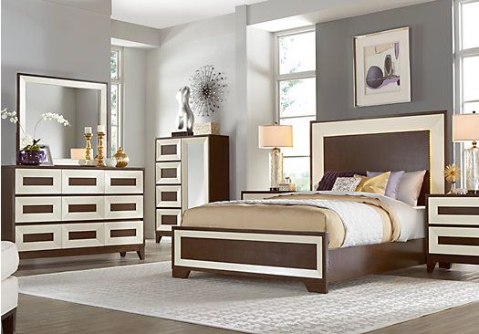 Sofia Vergara Savona Cherry 5 Pc Queen Panel Bedroom ...