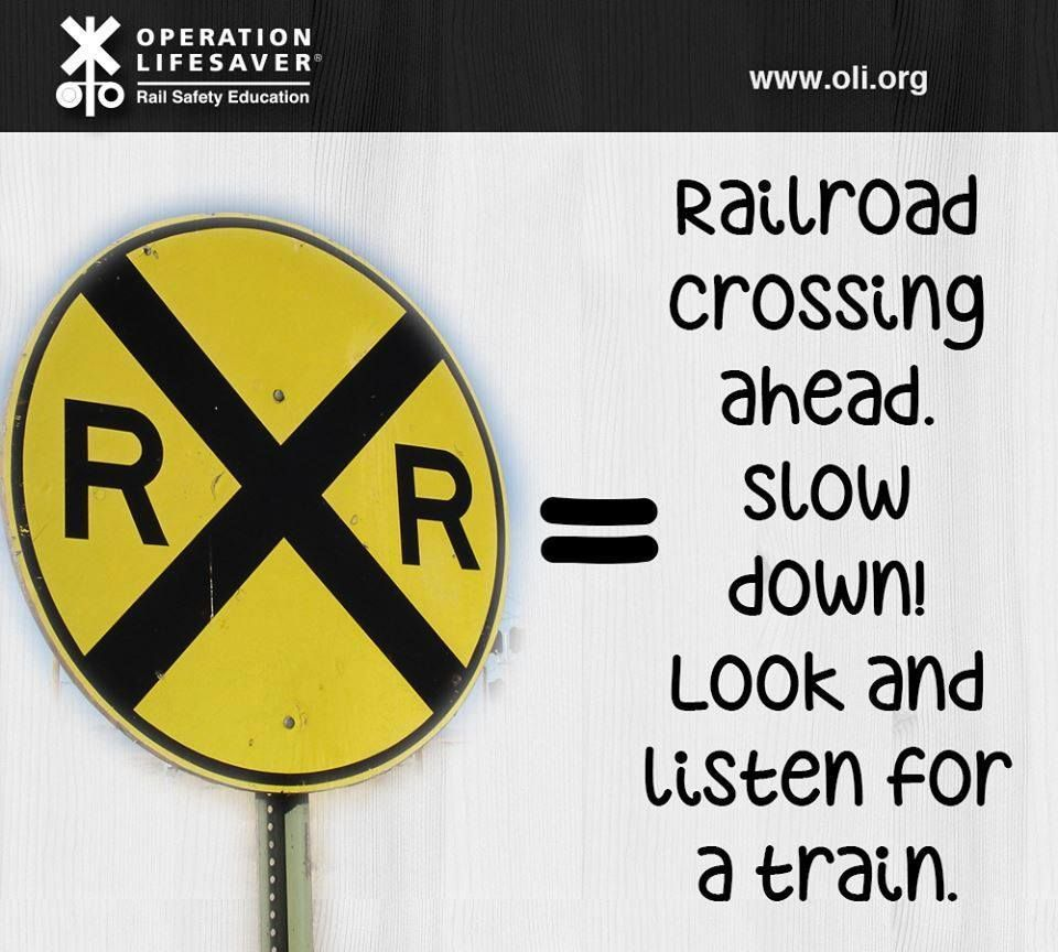 Operation Lifesaver | Life savers Train Sign meaning
