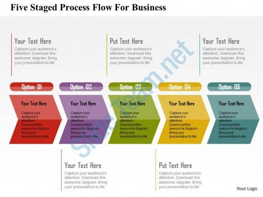 five staged process flow for business flat powerpoint design, Powerpoint templates