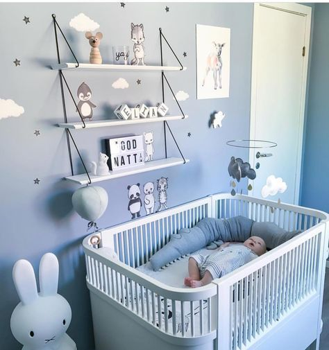 Scandinavian Baby Boy Nursery / Minimalist Kids Room Decor Inspiration