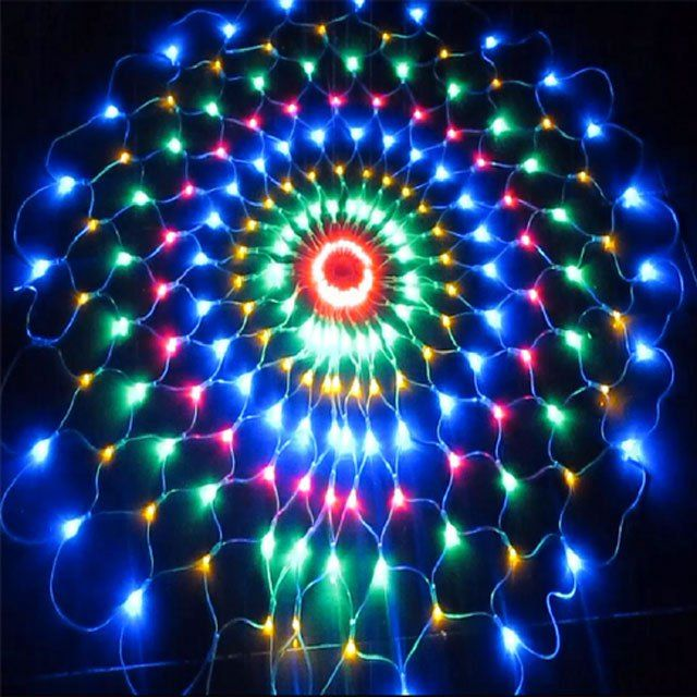 color changing round christmas net lights