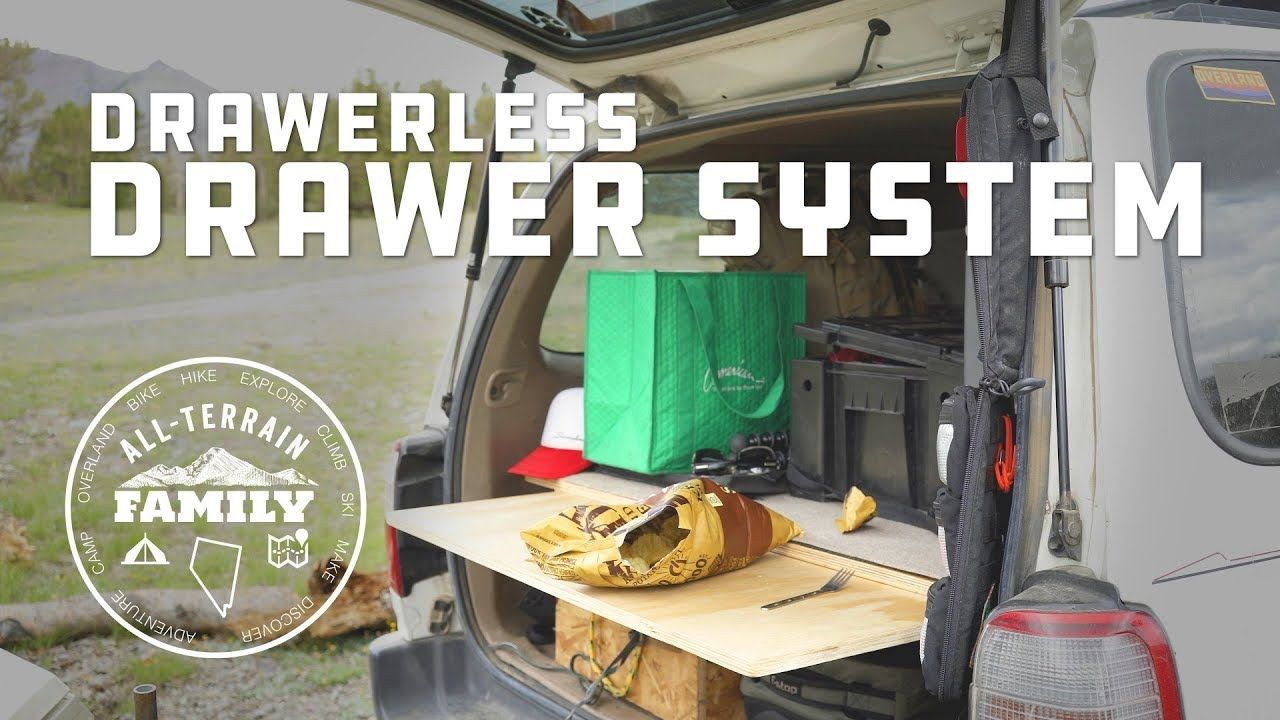 DIY Drawer less Drawer System for SUV from single sheet of