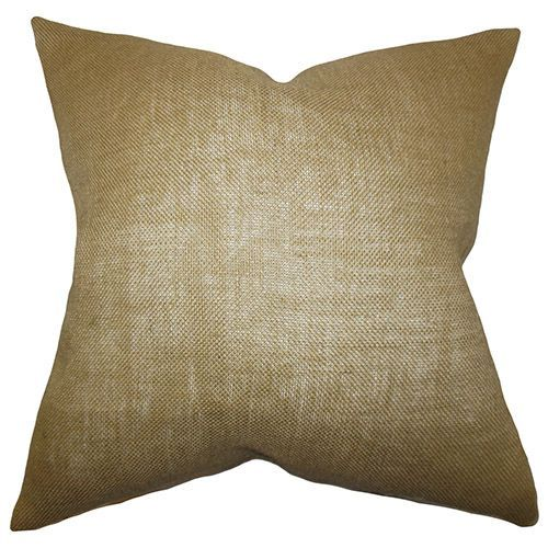 Ellery Neutral 18 x 18 Solid Throw Pillow