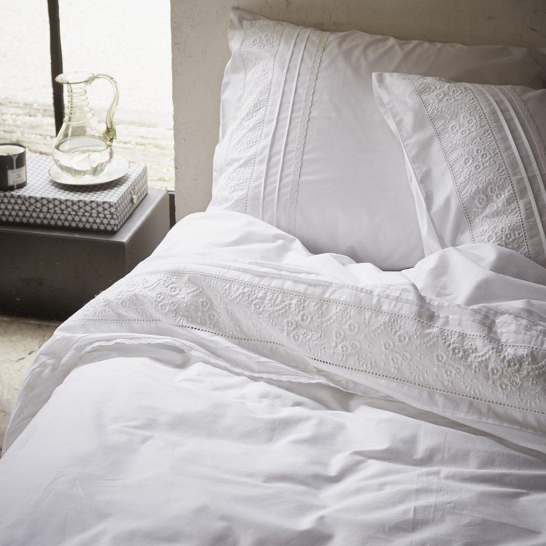 Essenza Bettwäsche Avery Weiß Weiße Bettwäsche