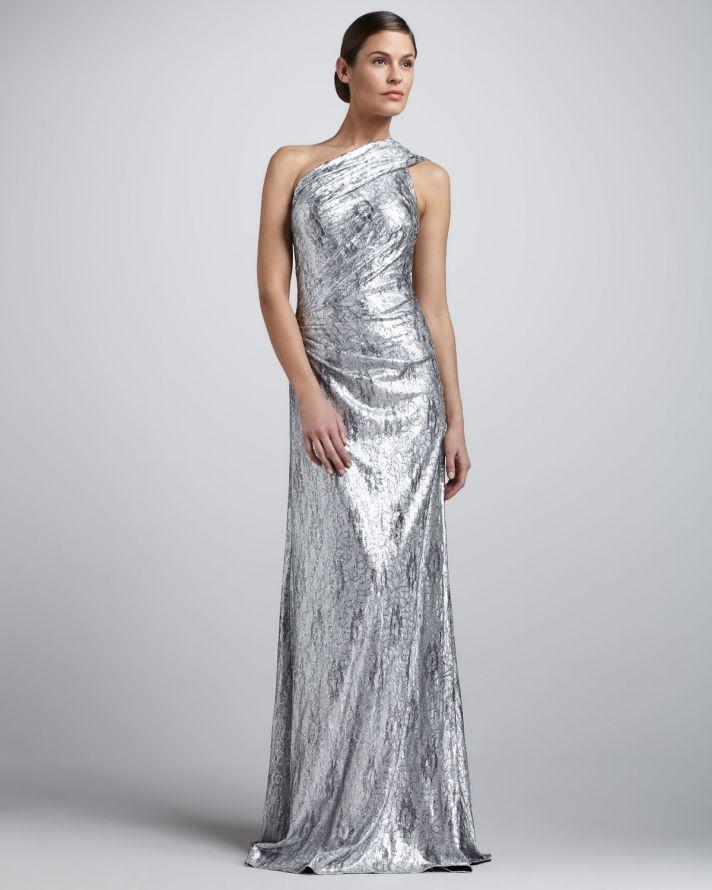 metallic-wedding-guest-dresses-silver-one-shoulder...I do Ghana ...
