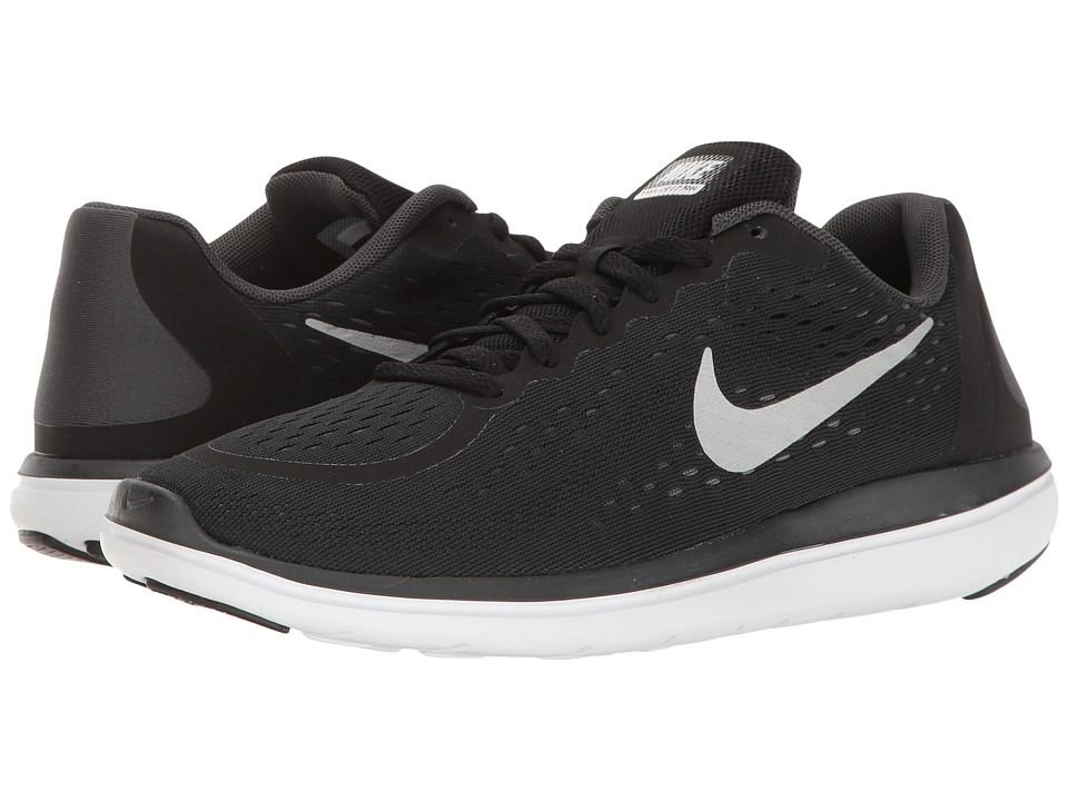 0aed2e0e3d6e Nike Kids Flex RN 2017 (Big Kid) (Black Metallic Silver Anthracite White) Boys  Shoes