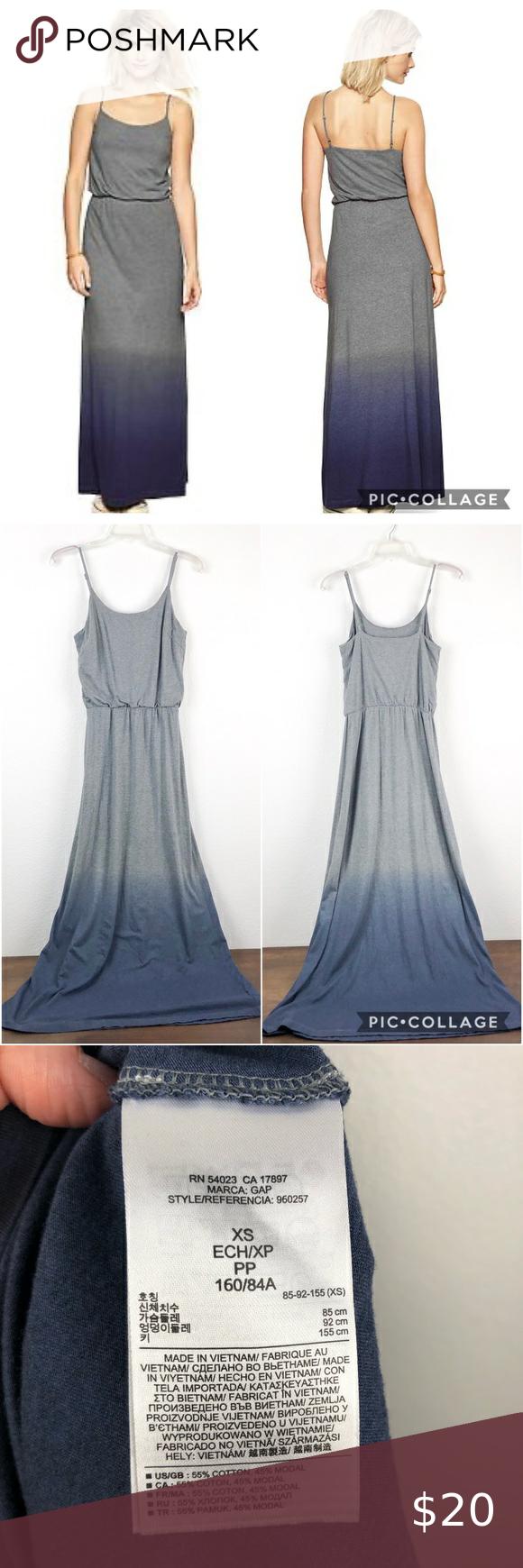 Gap Ombre Gray Blue Maxi Dress Maxi Dress Blue Maxi Tank Dress Blue Maxi [ 1740 x 580 Pixel ]
