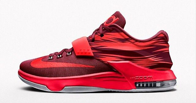quality design f1a21 0888b Nike kd7 red bmj. Nike kd7 red bmj Kd Shoes, Sock Shoes, Cute ...