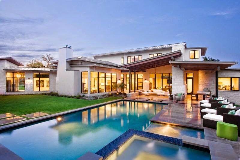 Casa branca e moderna por dentro e por fora em 2019 - Casa modernas por dentro ...