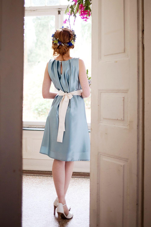 Labude Kleid Chiara in Türkis - Brautkleid in Farbe Standesamt ...