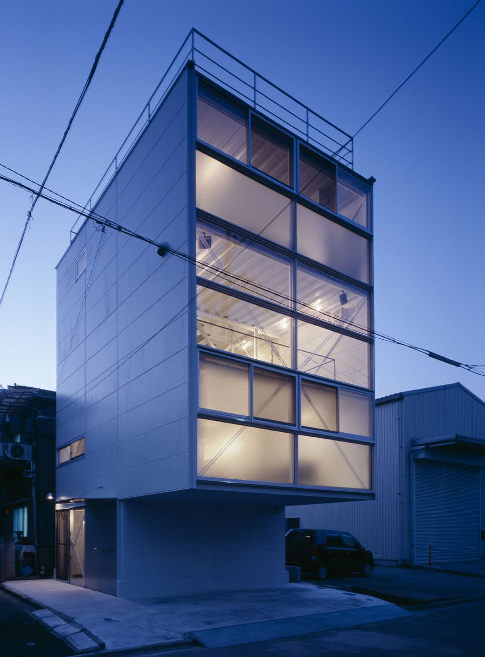 Architecture fabulous four story house design in transparent glass boxes structure with futuristic outlook