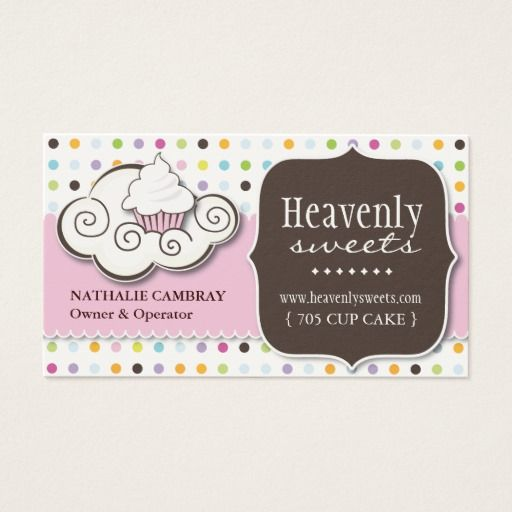 Fun and whimsical cupcake bakery business card bakery business fun and whimsical cupcake bakery business card reheart Images