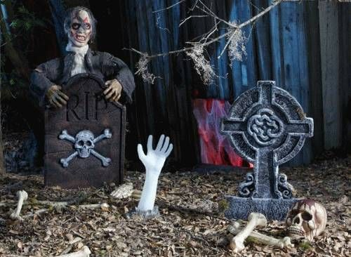Halloween Decorations Homemade Grave Yard Scary Halloween - how to make scary homemade halloween decorations