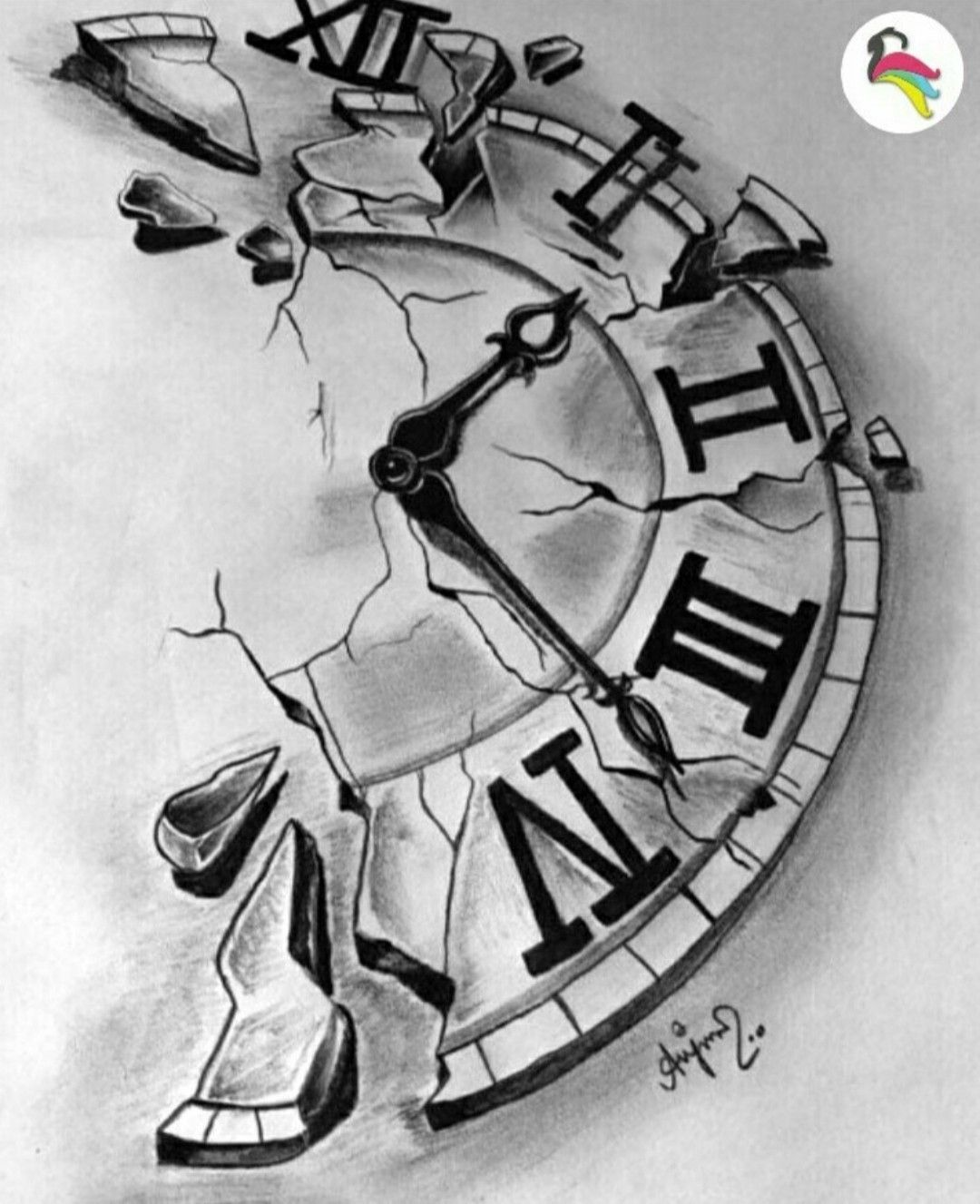 Realistic Clock Tattoo Design Clock Tattoo Sketch Tattoo Design