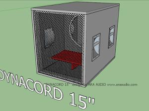 Skema Box Hornsub Hybrid D15 15 inch | Kotak, Desain, Monitor