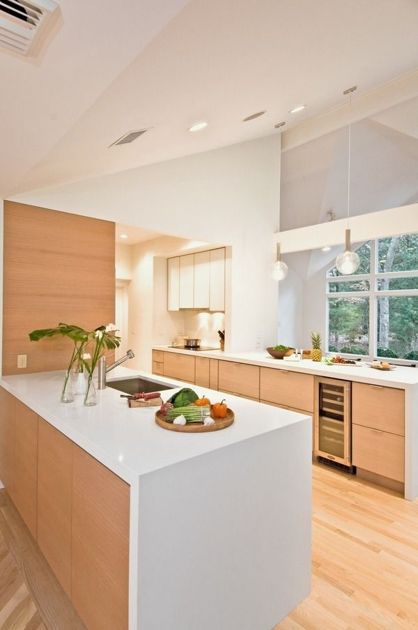 Contemporary Kitchen Modular Cabinets White Countertop Wine Cooler Gorgeous Contemporary Style Kitchen Cabinets Design Inspiration