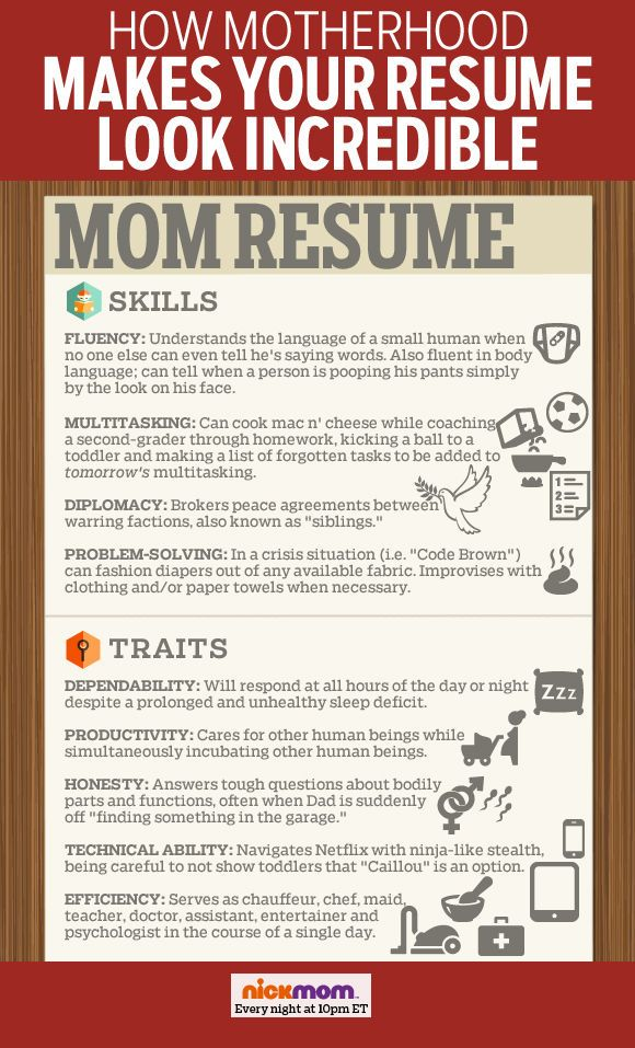 How Motherhood Makes Your Resume Look Incredible More LOLs  Funny