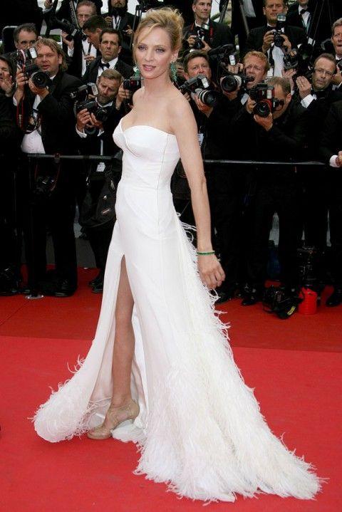 9dd662b88cff Uma Thurman - Red carpet wedding dress inspiration