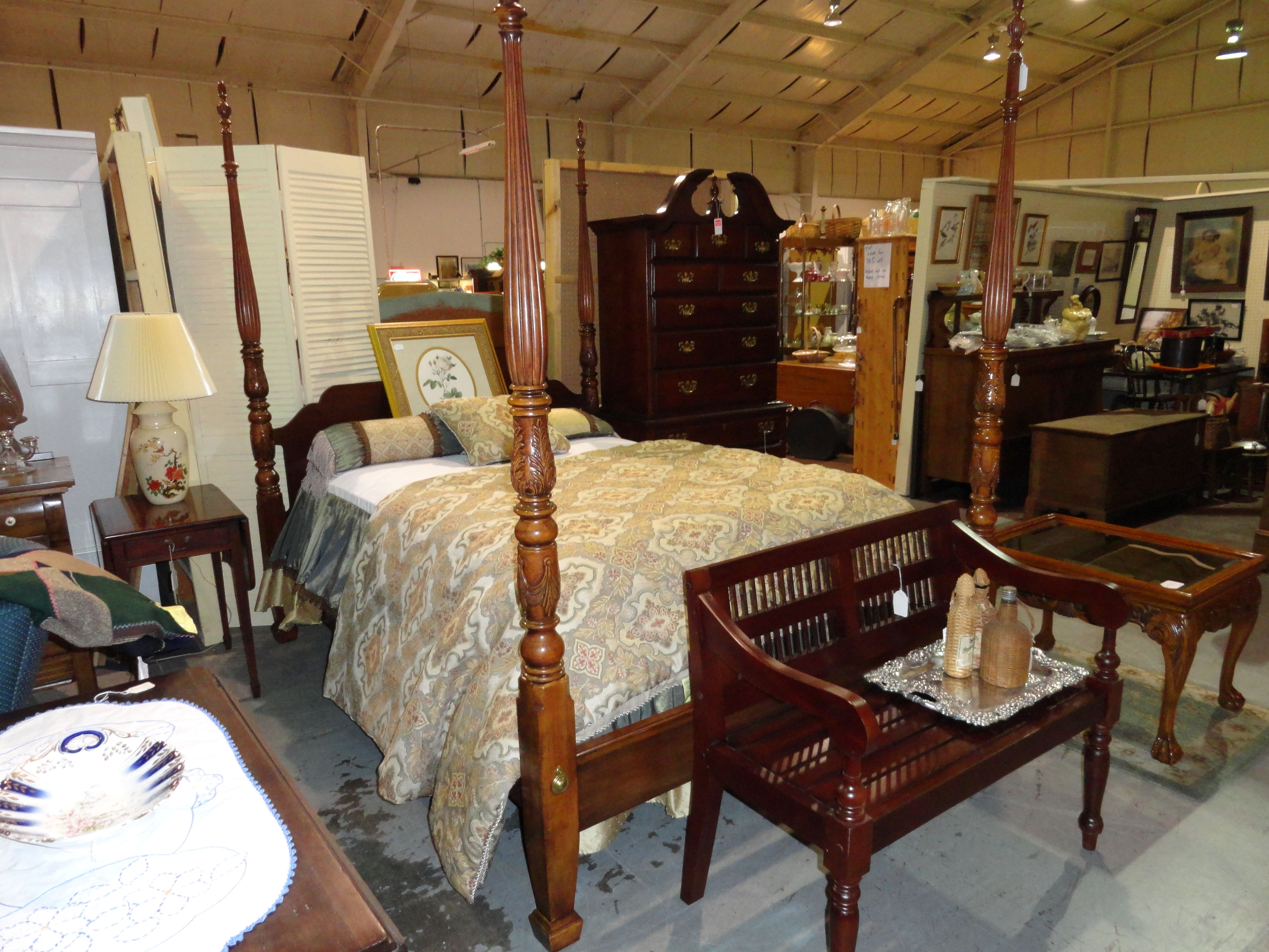 Rice Carved Poster Bed Closed Antiques To Envy Inc