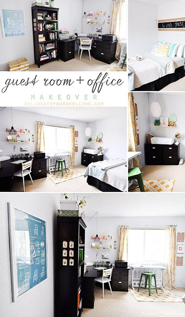 24++ Guest bedroom office combo trends