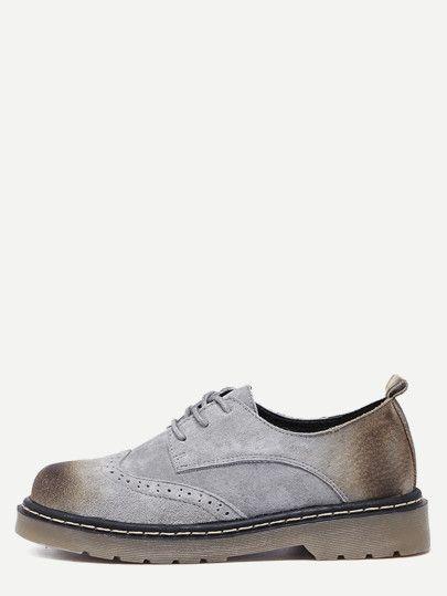 938276217ec Zapatos oxford con suela de goma - gris