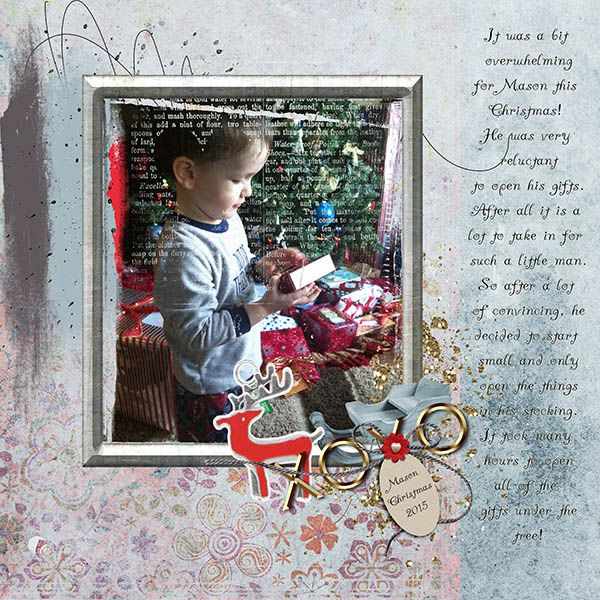 "Overwhelmed The mini O's are so easy to work with, they all work together with the same colour palette and are so versatile!   I choose to use ""Love Letter"" by Joyce Paul http://www.oscraps.com/shop/loveletter.html  and ""In the Winter Forest"" elements by MooScraps http://www.oscraps.com/shop/In-the-winter-forest-elements.html"