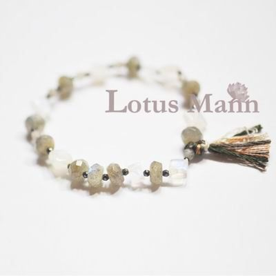 Lotus mann Moonlight Labradorite Wrap Bracelet