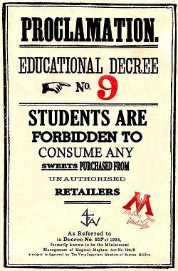 Harry potter educational decree template digital download.
