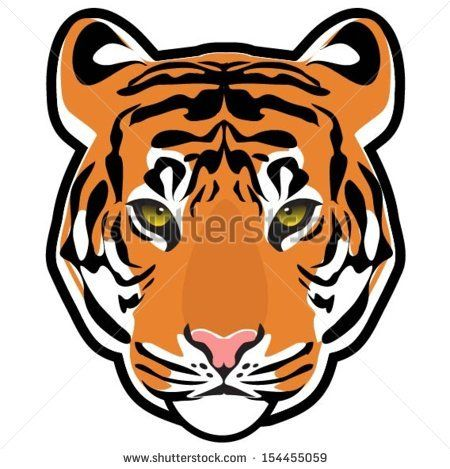 cartoon tiger head cakes pinterest tigers and cartoon rh pinterest com cartoon tiger face stencil cartoon tiger face cute