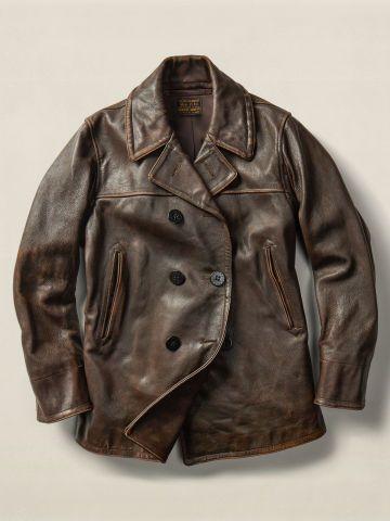 Leather Pea Coat - RRL Leather & Suede - RalphLauren.com