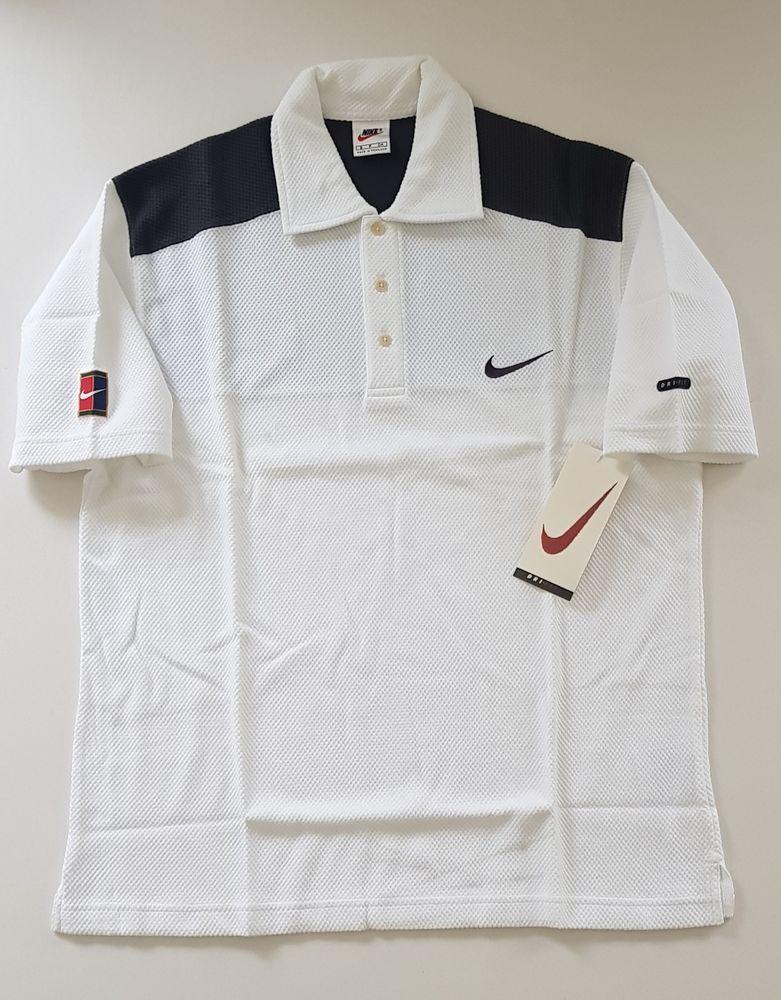 Vtg 1998 Nike Supreme Court Tennis Shirt Sampras Agassi Federer Retro Og Rare Nike Activewearvest Tennis Shirts Retro Shirts Activewear Vest