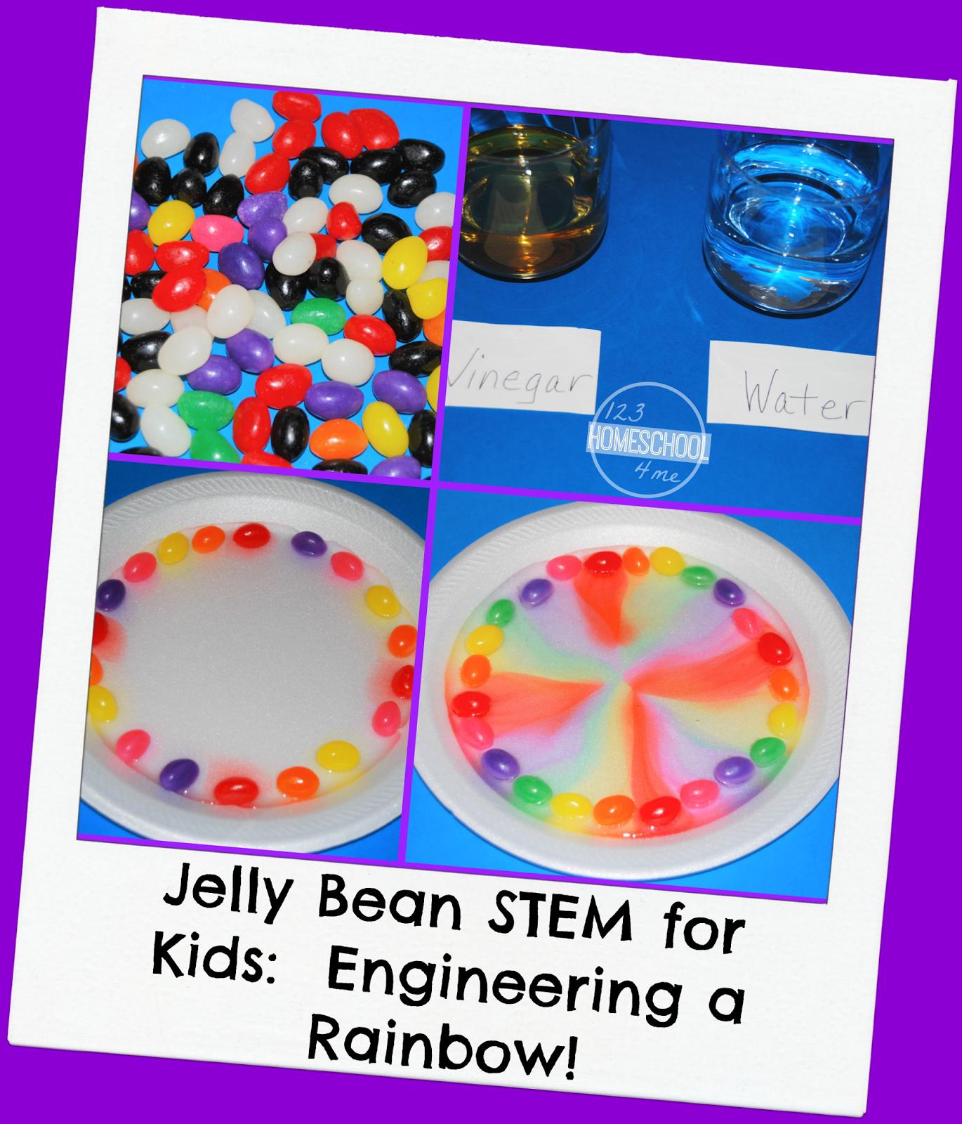 Jelly Bean Stem Rainbow Activity