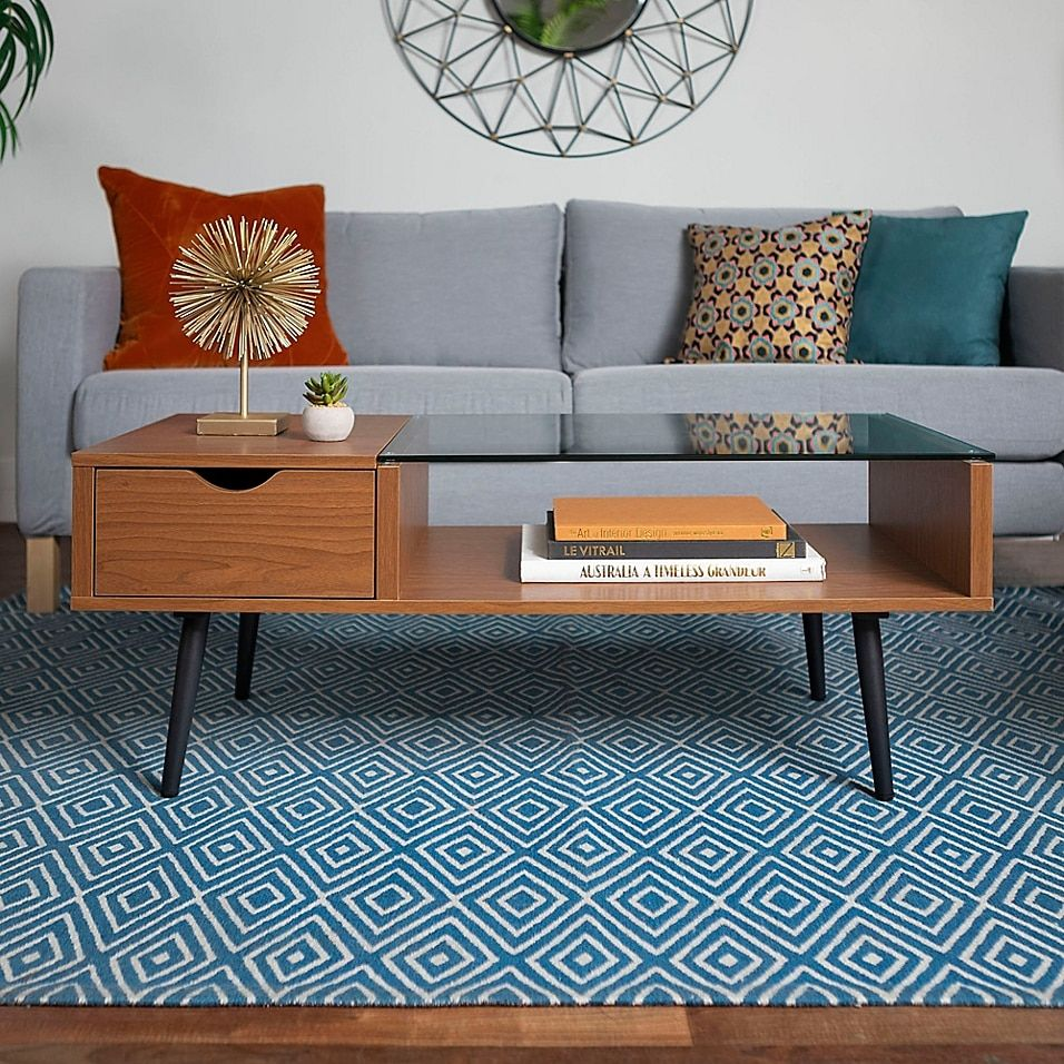 Forest Gate Diana Mid Century Modern Wood Glass Coffee Table Bed Bath Beyond Mid Century Modern Coffee Table Coffee Table Mid Century Living Room [ 956 x 956 Pixel ]