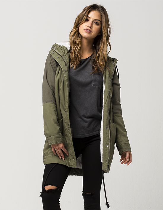 RVCA Midnight Womens Parka Jacket | Outerwear | Pinterest | Womens ...