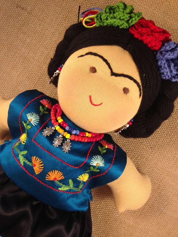 12 inch Frida Kahlo waldorf inspired doll