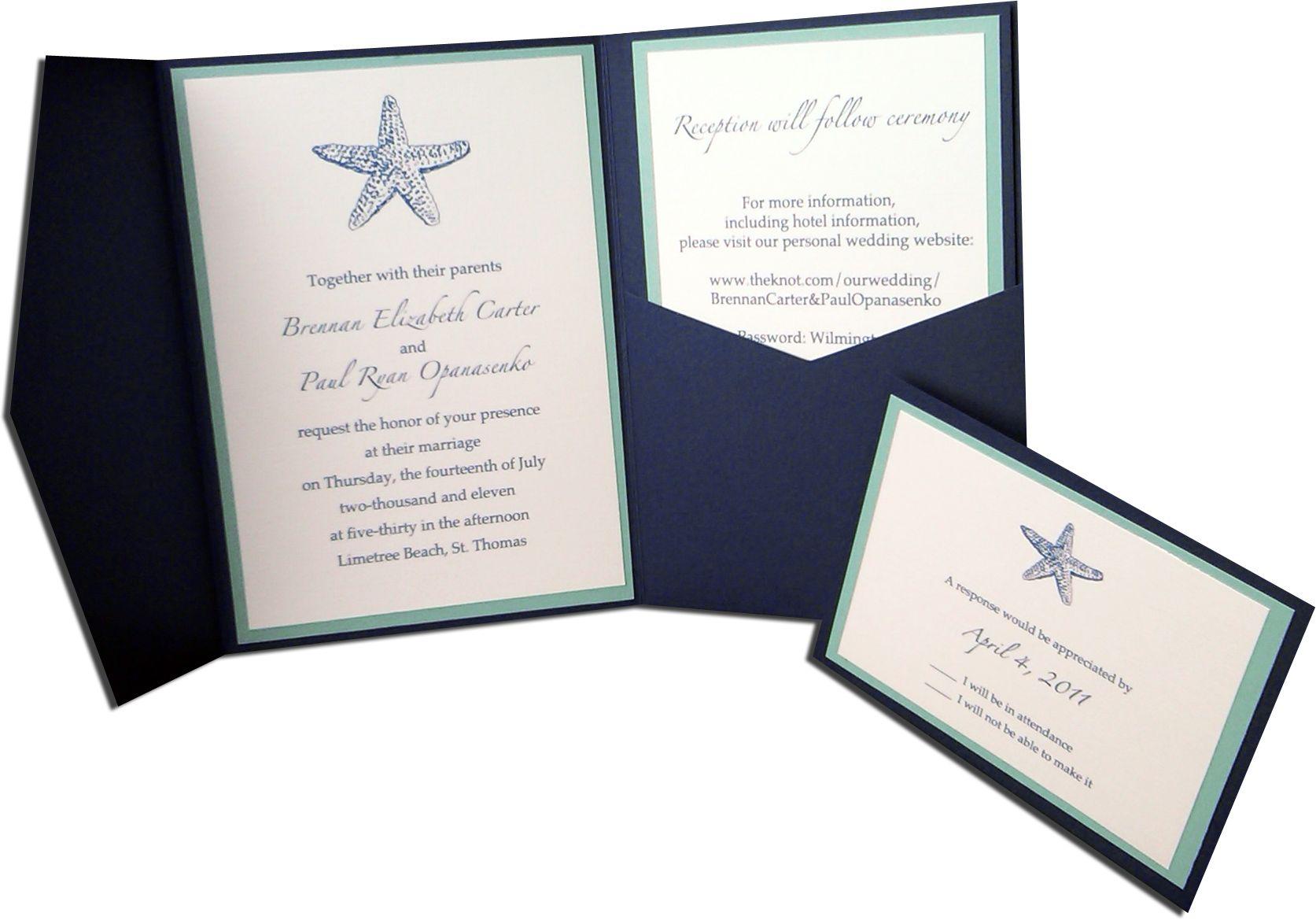Destination Beach Wedding Invitation & RSVP card | Invitations ...